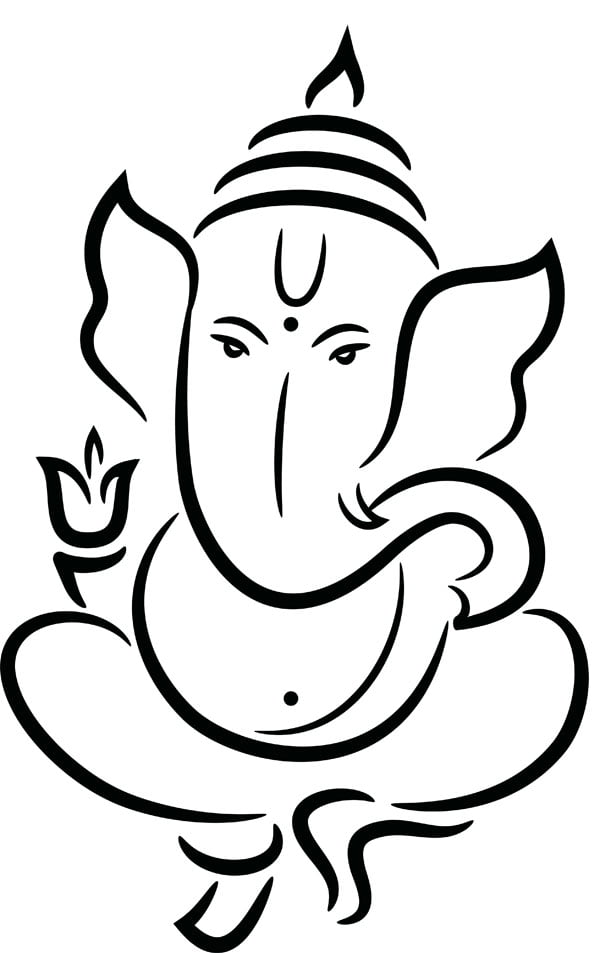 Line Art Ganesh Images : Lord ganesha temples in india information