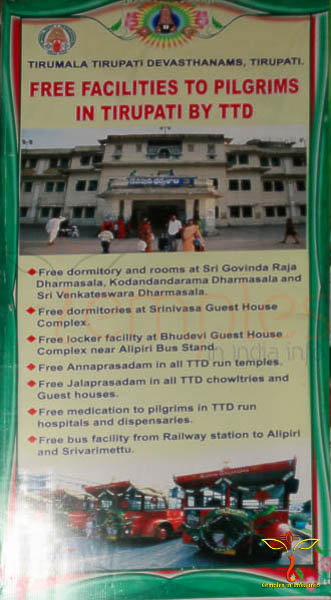 Free Facilities to Pilgrims