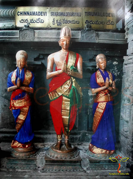 three statues