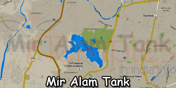 Mir Alam Tank Map