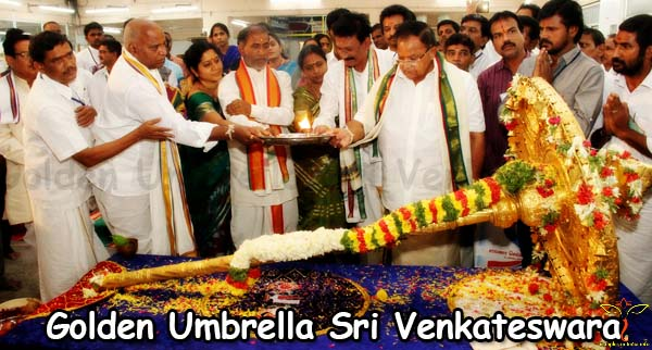 Golden Umbrella Sri Venkateswara