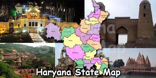 Haryana State Map