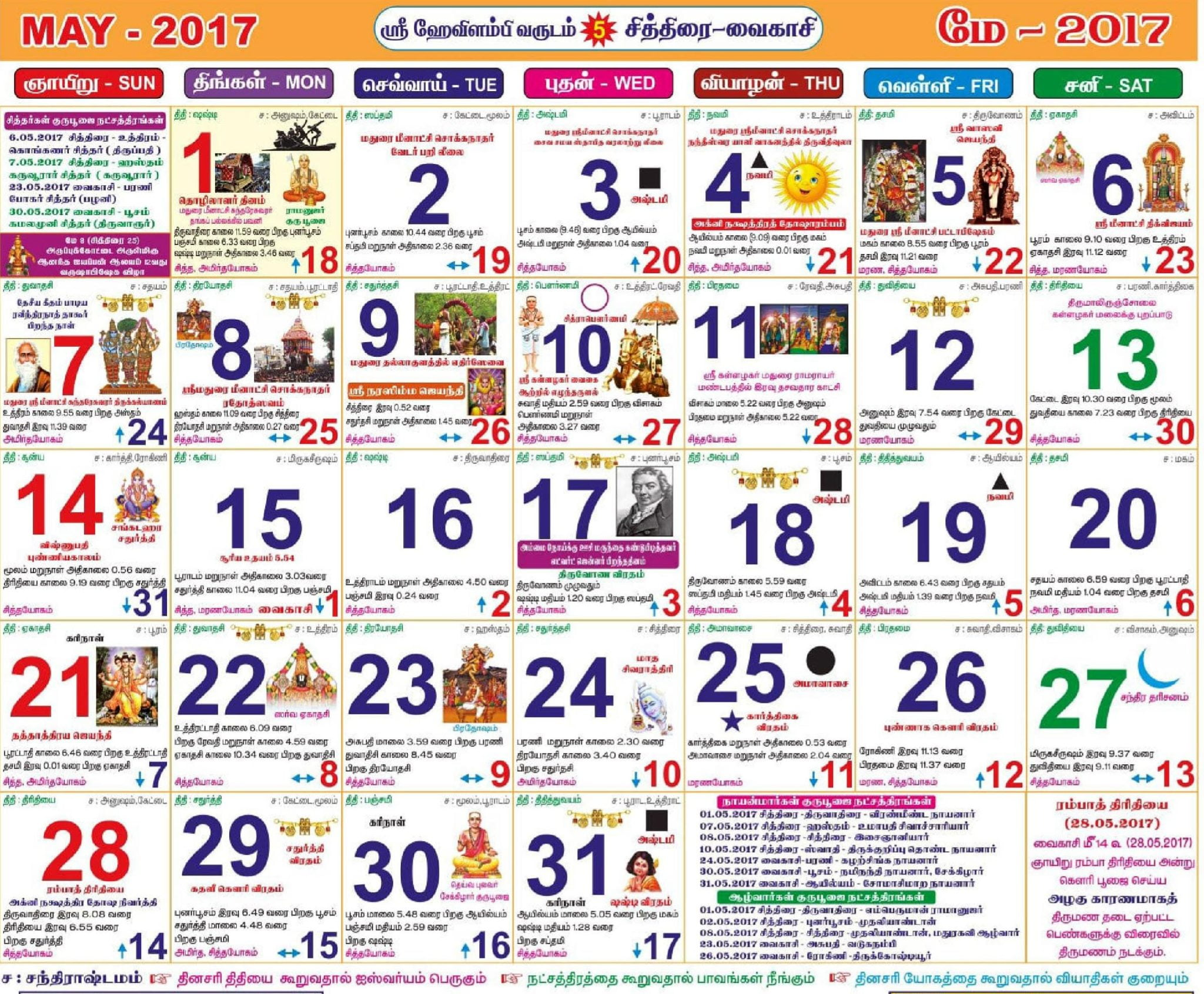 Tamil Panchangam Calendar 2017 Rahu Kalam And Yama Gandam