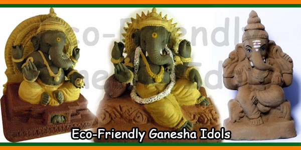 Eco-Friendly Ganesha Idols