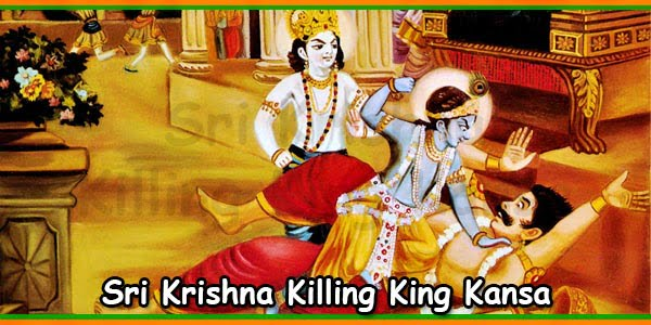 Sri Krishna Killing King Kansa