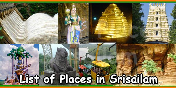 List of Places in Srisailam