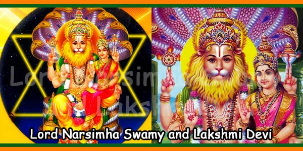 Lord Narsimha Swamy and Lakshmi Devi