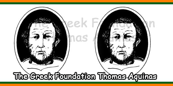 The Greek Foundation Thomas Aquinas