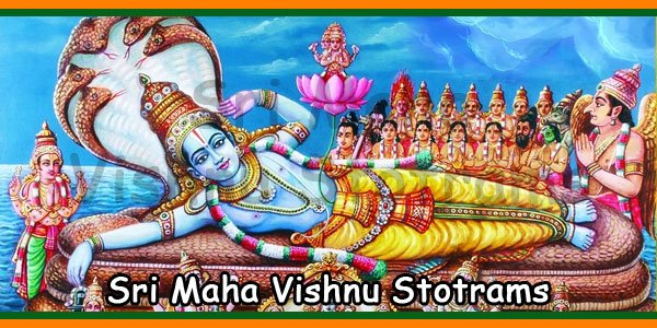 List of Sri Maha Vishnu Stotrams English, Telugu, Tamil