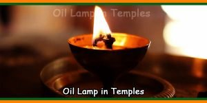 Oil Lamp in Temples