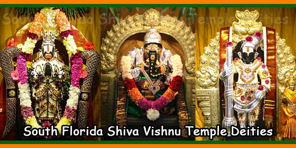 South Florida Shiva Vishnu Temple Deities