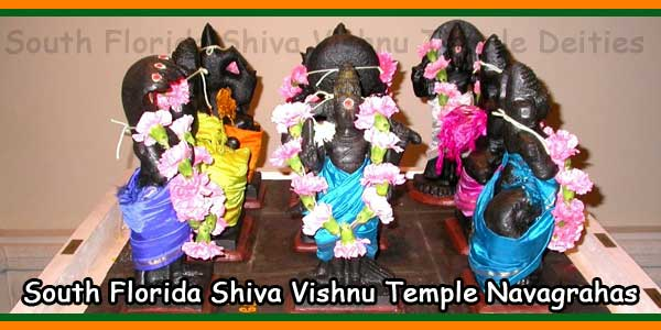 South Florida Shiva Vishnu Temple Navagrahas