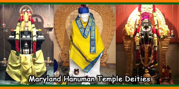 Maryland Hanuman Temple Deities