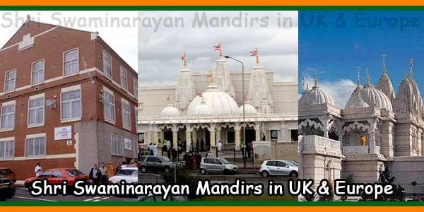 Shri Swaminarayan Mandirs in UK & Europe