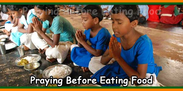 Praying Before Eating Food