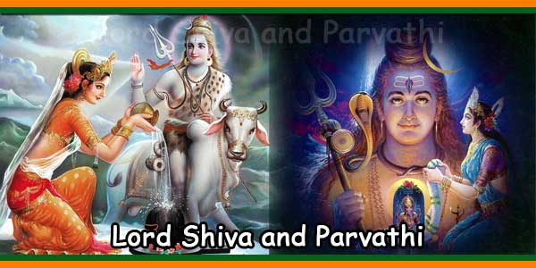 Goddess Parvathi Performing Puja to Lord Shiva