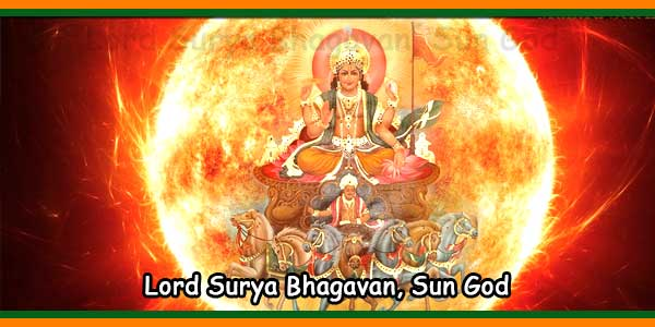 Lord Surya Bhagavan, Hindu Sun God