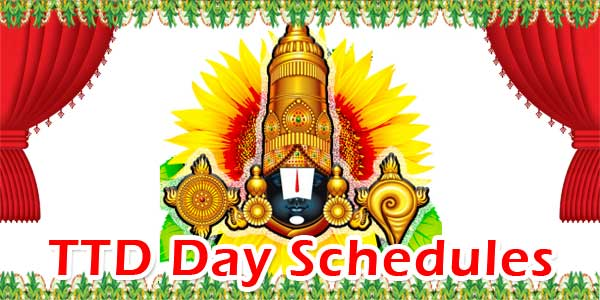 TTD Day Schedules
